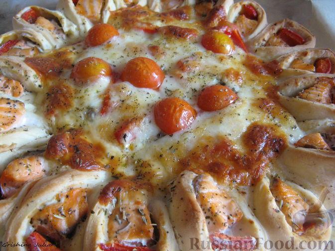 Рецепт Открытый пирог с рыбой