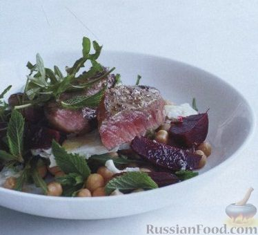 Рецепт Салат с говяжьими стейками и зеленью