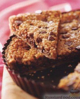 Рецепт Песочный пирог с шоколадом и грецким орехом