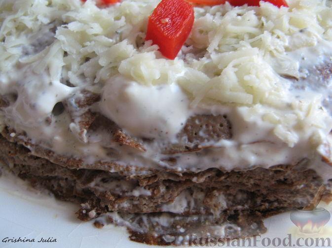 Рецепт Закусочный торт из печени