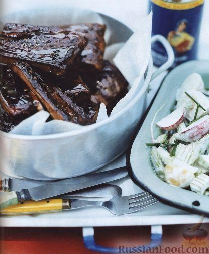 Рецепт Свиные ребрышки, жаренные на гриле