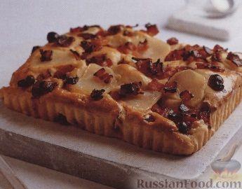 Рецепт Плоский хлеб с картофелем, клюквой и беконом