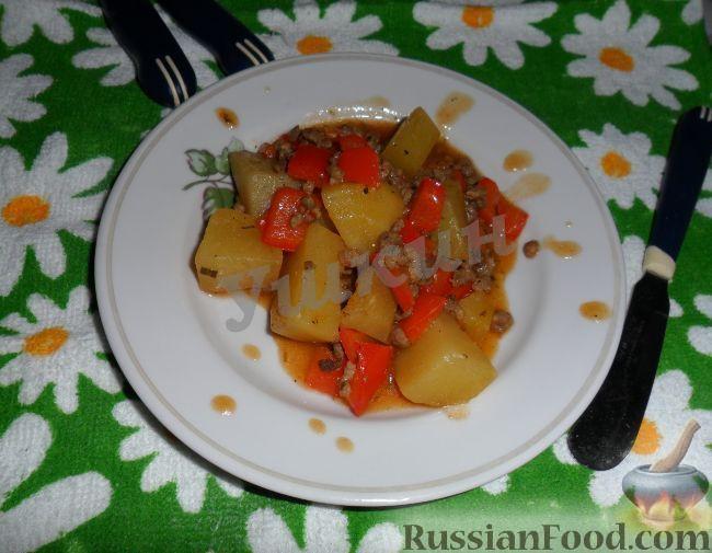 Рецепт Рагу по-болгарски с овощами и фаршем