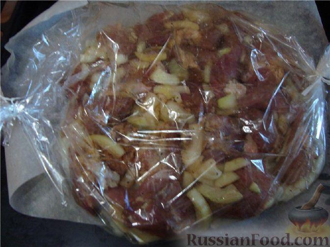 как приготовить шашлык из свинины в духовке в фольге