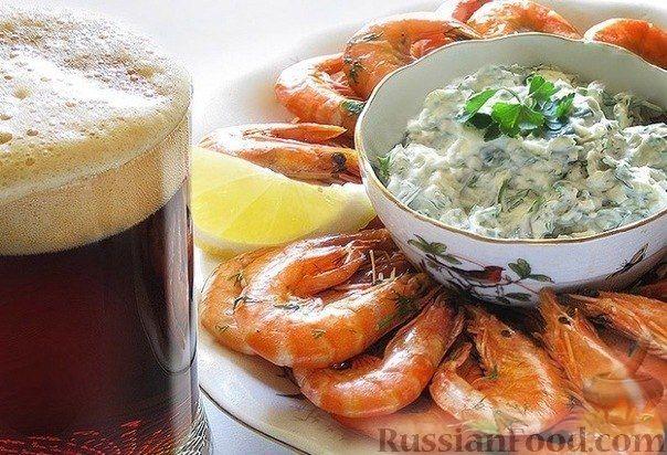 Рецепт Креветки к пиву