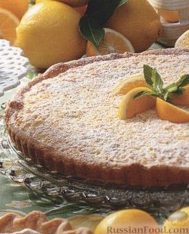 Рецепт Лимонно-кокосовый пирог с орехами
