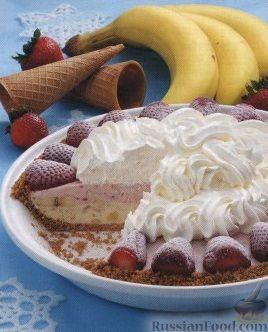 Рецепт Торт из мороженого и фруктов