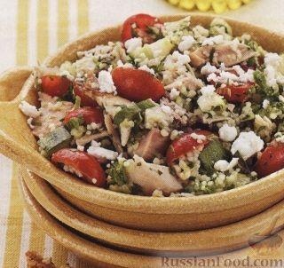 Рецепт Салат из кус-куса, куриного мяса и овощей
