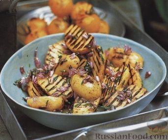 Рецепт Картофель и помидоры, жаренные на гриле