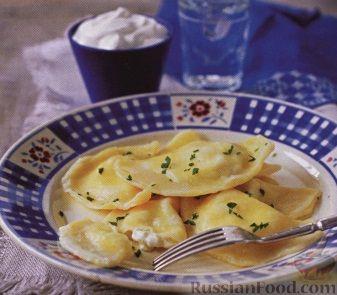 Рецепт Вареники с картофелем и сливочным сыром