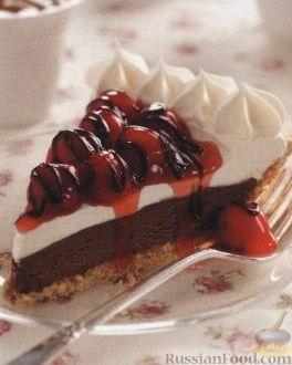 Рецепт Торт-мороженое с вишнями