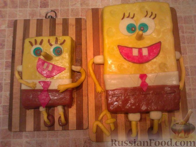 "Рецепт МК торт ""Спанч Боб"" (пошагово)"