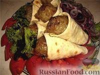 Фото к рецепту: Люля-кебаб в лаваше (по алма-атински)