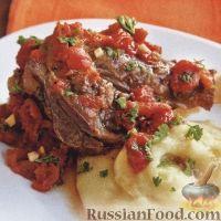 Фото к рецепту: Баранина в томатном соусе