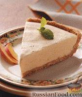 Фото к рецепту: Персиковый пирог-мороженое