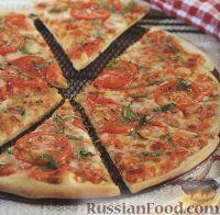 Фото к рецепту: Пицца со свежими помидорами