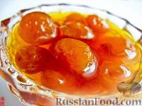 Фото к рецепту: Варенье из белой черешни с апельсиновым соком
