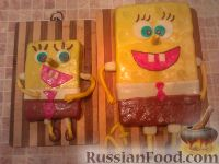 "Фото к рецепту: МК торт ""Спанч Боб"" (пошагово)"