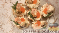 Фото к рецепту: Картофельные тарталетки с морепродуктами