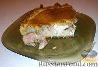 "Фото к рецепту: Бабушкин пирог с курицей ""Туды-сюды"""