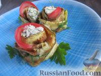 """Фото к рецепту: Закуска """"Розочки"""" из кабачков с творожно-ореховым кремом"""
