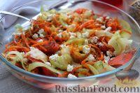 Фото к рецепту: Закуска из кабачков с лососем и морковью