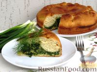 Фото к рецепту: Пирог с зеленым луком