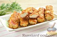 Фото к рецепту: Крабовые палочки в кляре и панировочных сухарях