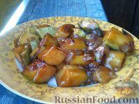 Фото к рецепту: Кабачки, тушенные в соевом соусе