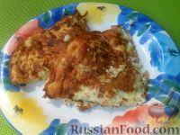 Фото к рецепту: Сладкий омлет с кабачками