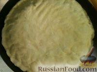 Фото приготовления рецепта: Сырно-луковый пирог - шаг №5