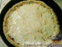 Фото приготовления рецепта: Сырно-луковый пирог - шаг №12