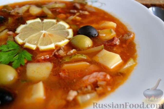 рецепт супа с копченым мясом