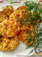 Фото к рецепту: Куриные рубленые котлеты с помидорами и перцем