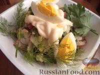 Фото к рецепту: Салат из щавеля и редиса с яйцом