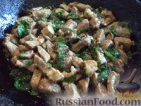 Фото к рецепту: Свинина со шпинатом