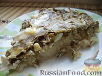 Фото к рецепту: Картофельная запеканка со щавелем