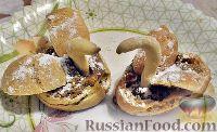 """Фото к рецепту: Заварные пирожные """"Лебеди"""" со сгущенкой"""