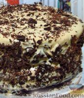 Фото к рецепту: Большой праздничный торт