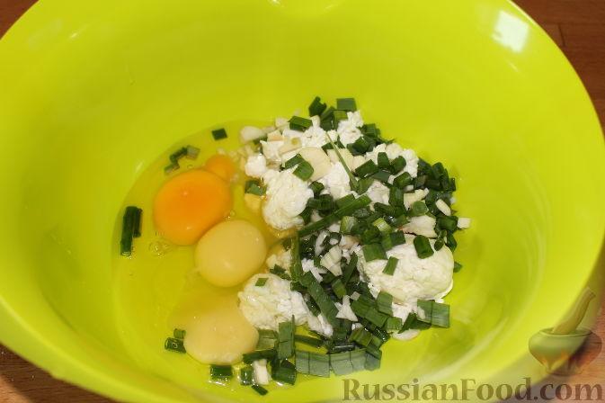 Фото приготовления рецепта: Пирог со свежими баклажанами - шаг №9