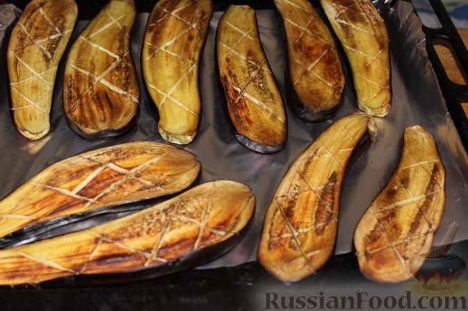 Фото приготовления рецепта: Пирог со свежими баклажанами - шаг №4