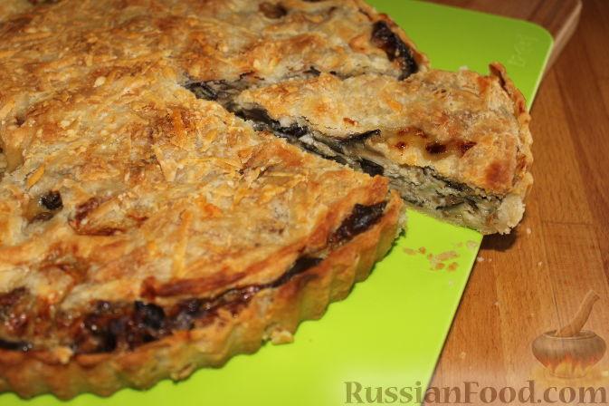 Фото приготовления рецепта: Пирог со свежими баклажанами - шаг №17