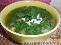 Фото к рецепту: Суп картофельный со щавелем