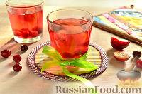 Фото к рецепту: Напиток из красной алычи и вишни