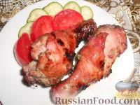 Фото к рецепту: Куриный шашлык в маринаде из красной смородины
