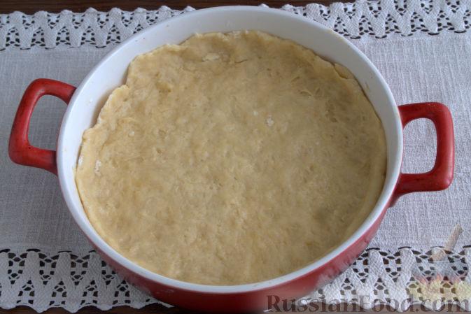 пирог с персиками и безе рецепт с фото