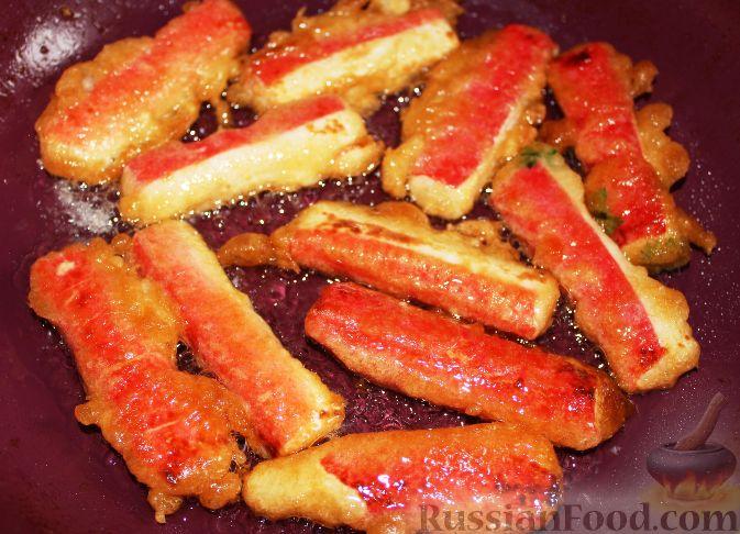 Крабовые палочки в кляре с сыром рецепт с пошагово в