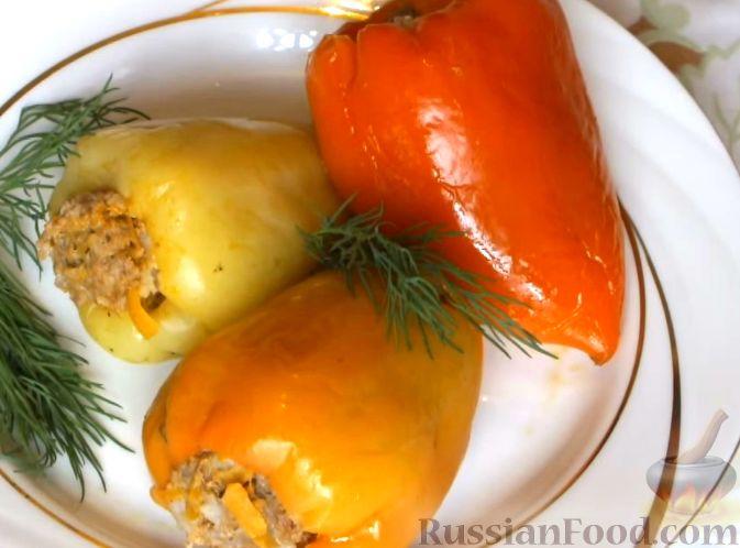 Рецепт перец фаршированный мясом и рисом рецепт с фото в мультиварке