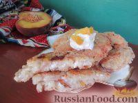 Фото к рецепту: Сырники из овсяной каши с персиками