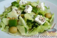 Фото к рецепту: Зеленый греческий салат